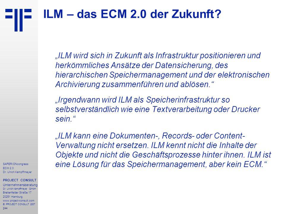 ILM – das ECM 2.0 der Zukunft
