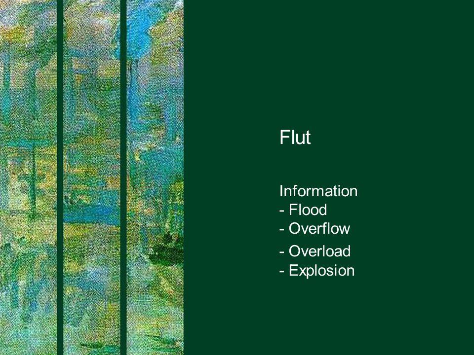 Flut Information - Flood - Overflow - Overload - Explosion
