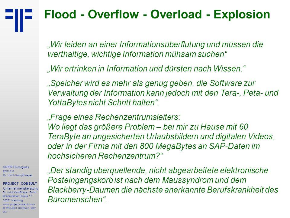 Flood - Overflow - Overload - Explosion