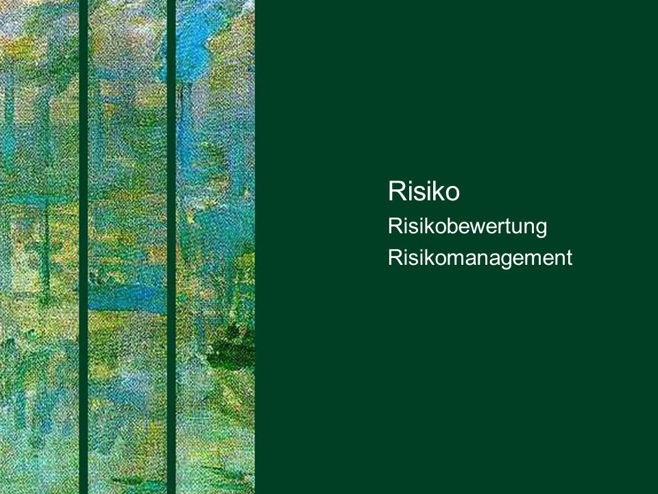 Risiko Risikobewertung Risikomanagement PROJECT CONSULT