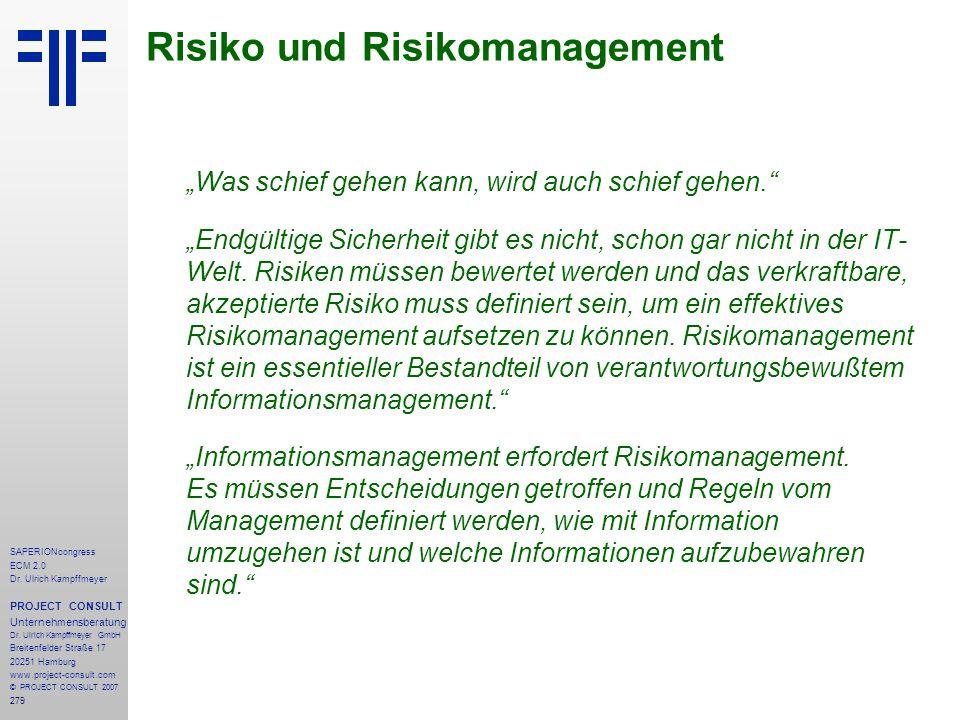 Risiko und Risikomanagement
