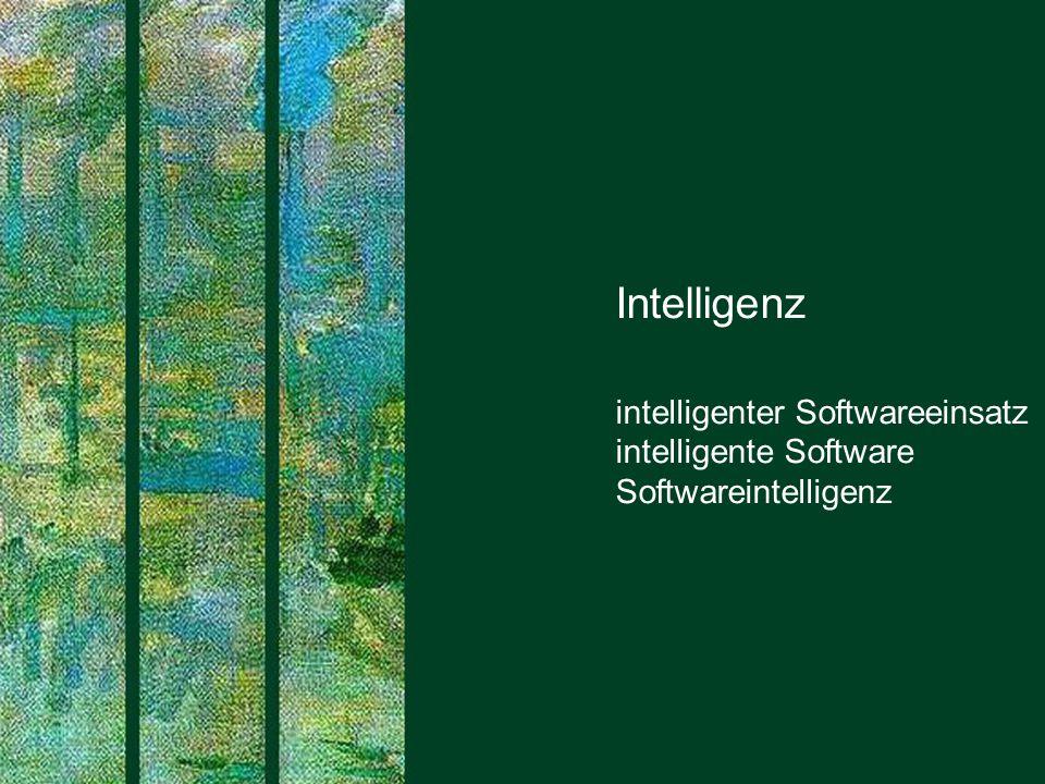 Intelligenz intelligenter Softwareeinsatz intelligente Software Softwareintelligenz. SAPERIONcongress.
