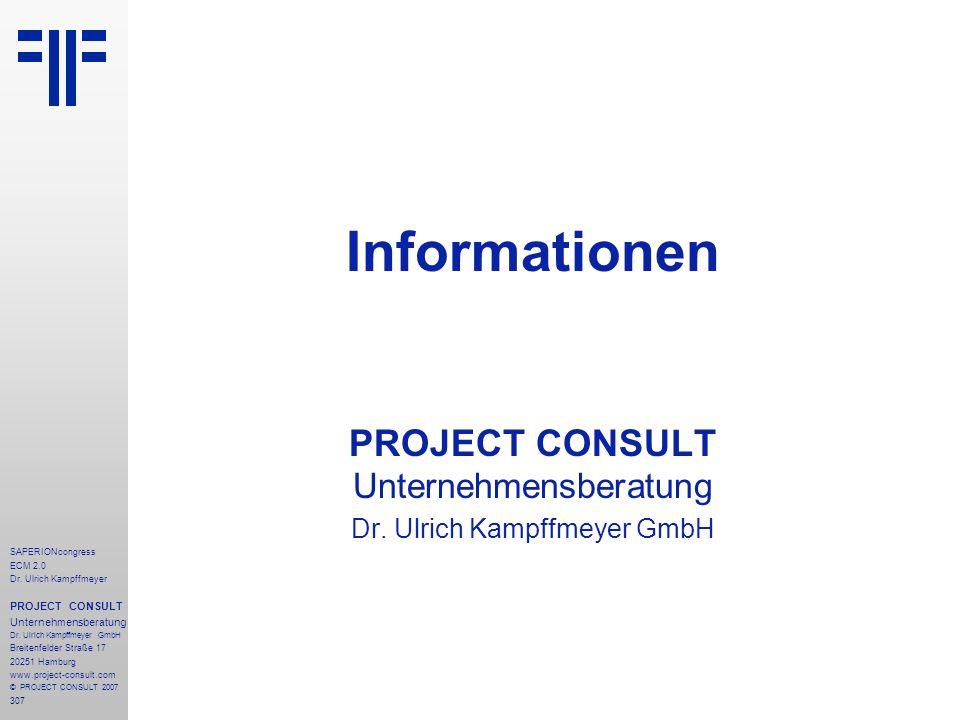 Informationen PROJECT CONSULT Unternehmensberatung