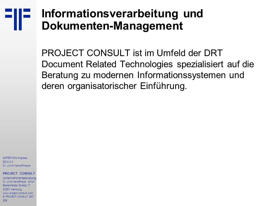 Informationsverarbeitung und Dokumenten-Management