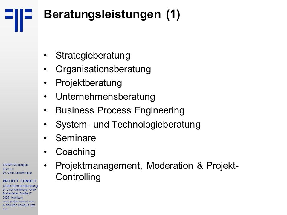 Beratungsleistungen (1)