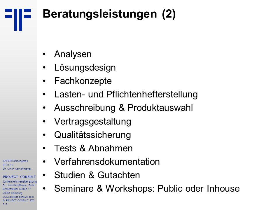 Beratungsleistungen (2)