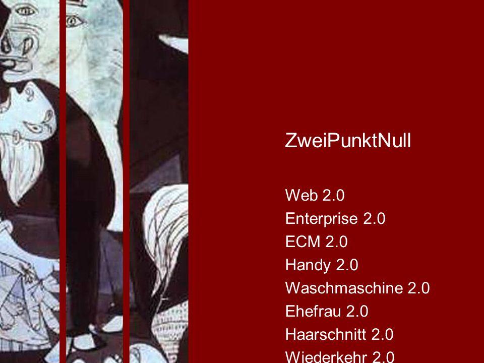 ZweiPunktNull Web 2.0 Enterprise 2.0 ECM 2.0 Handy 2.0