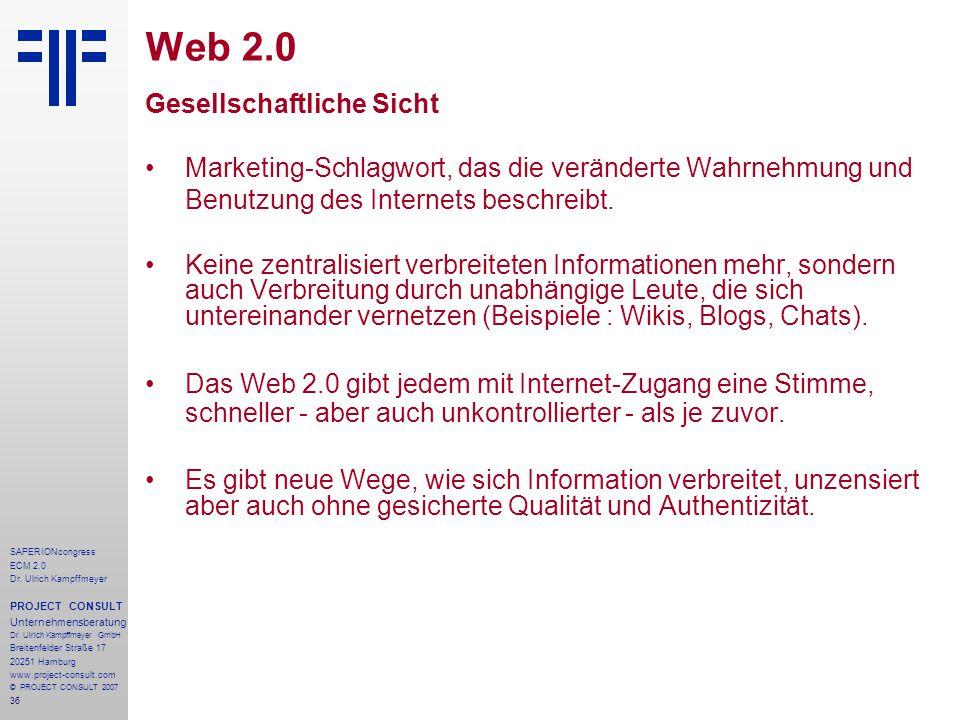 Web 2.0 Gesellschaftliche Sicht
