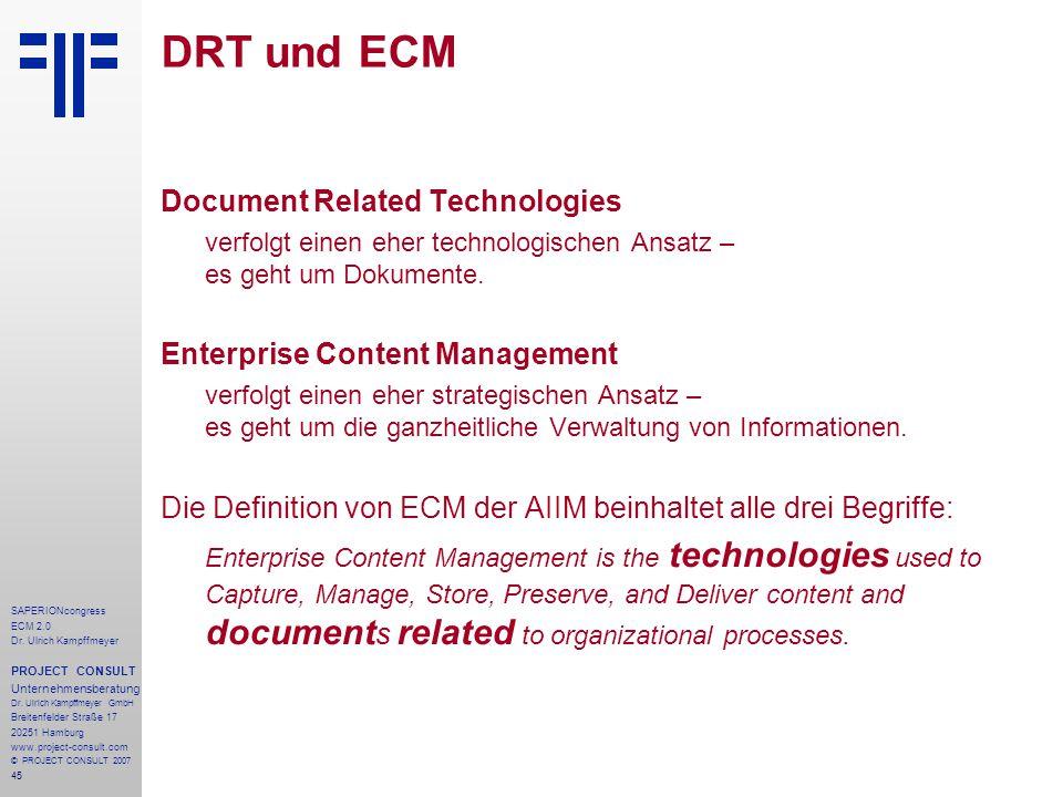 DRT und ECM Document Related Technologies