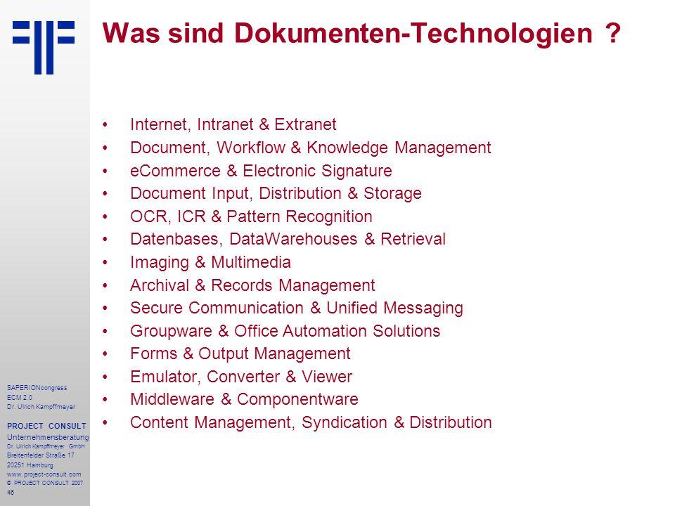 Was sind Dokumenten-Technologien