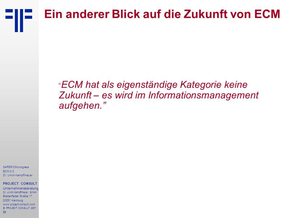 Ein anderer Blick auf die Zukunft von ECM