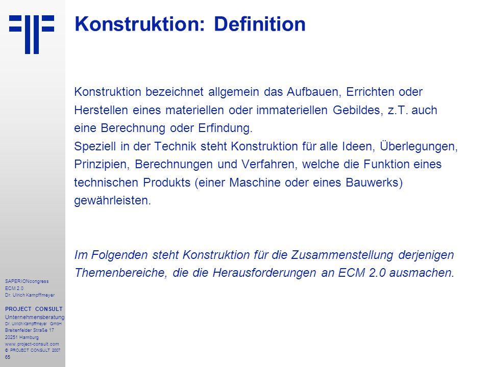 Konstruktion: Definition