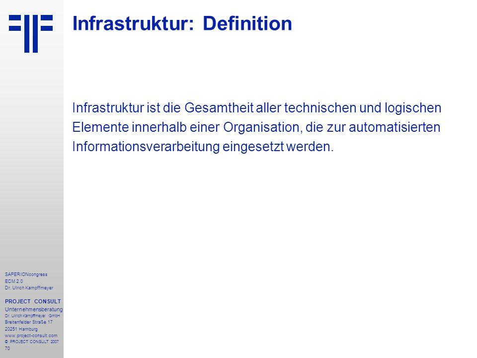 Infrastruktur: Definition