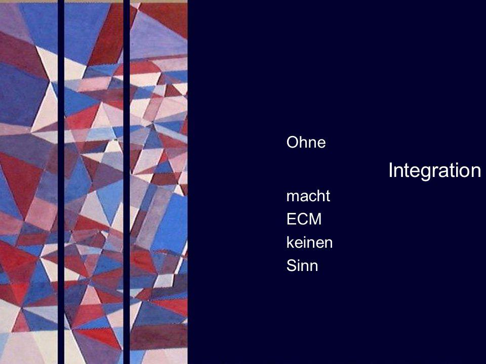 Integration Ohne macht ECM keinen Sinn PROJECT CONSULT
