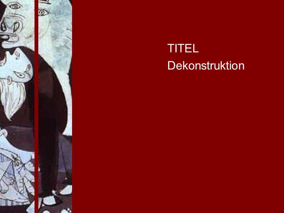 TITEL Dekonstruktion PROJECT CONSULT Unternehmensberatung