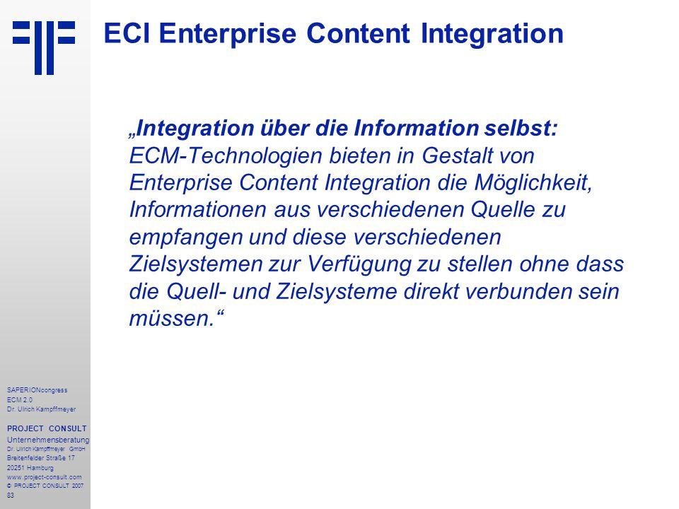 ECI Enterprise Content Integration