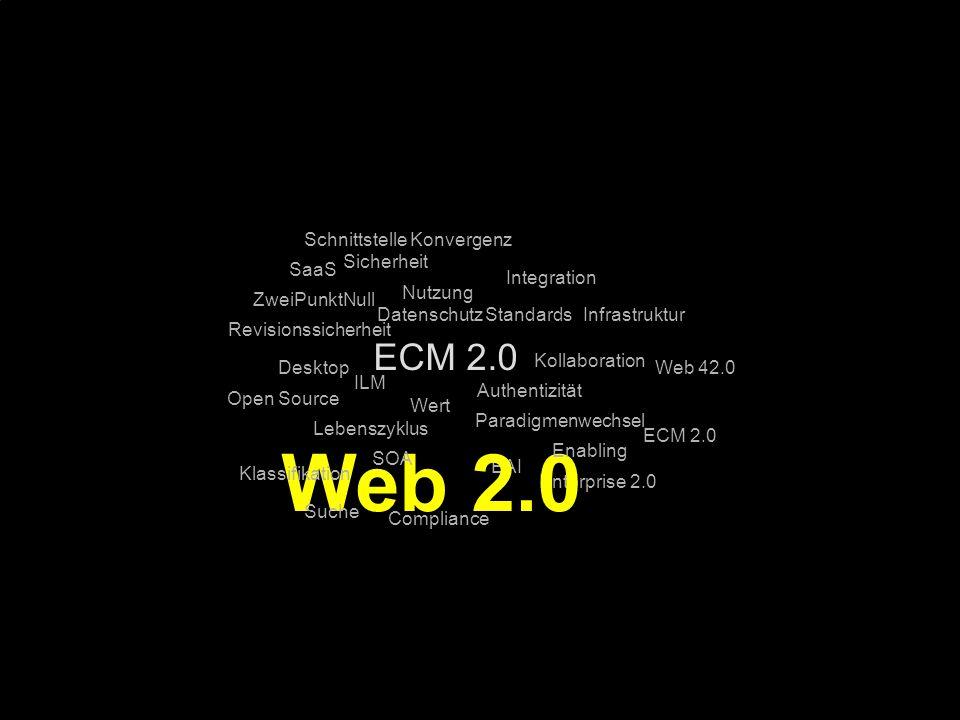 Web 2.0 ECM 2.0 Schnittstelle Konvergenz Sicherheit SaaS Integration