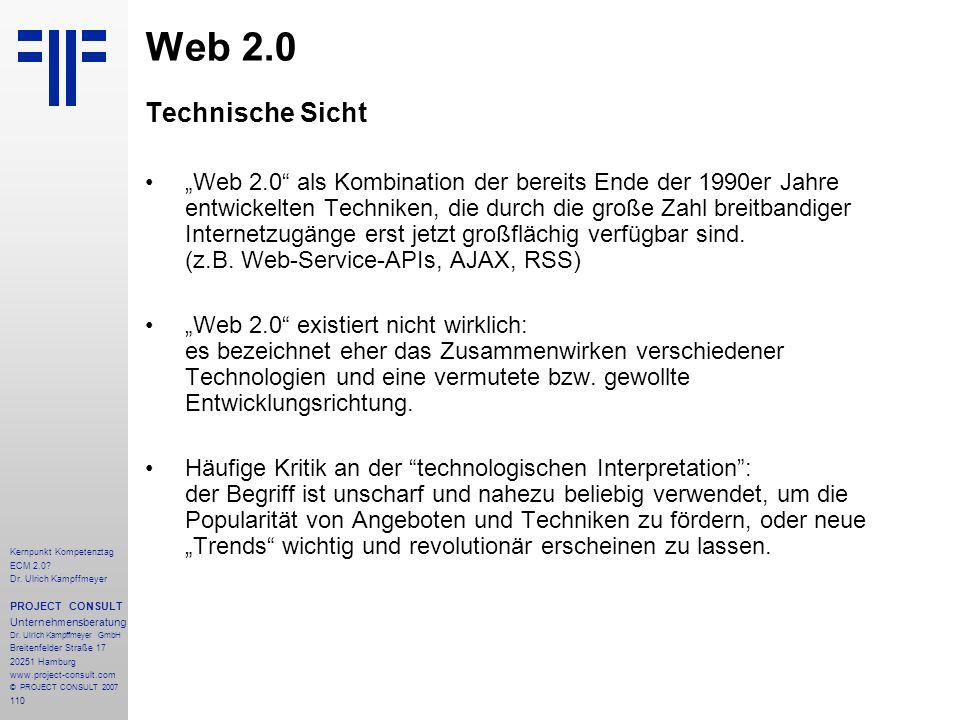 Web 2.0 Technische Sicht.