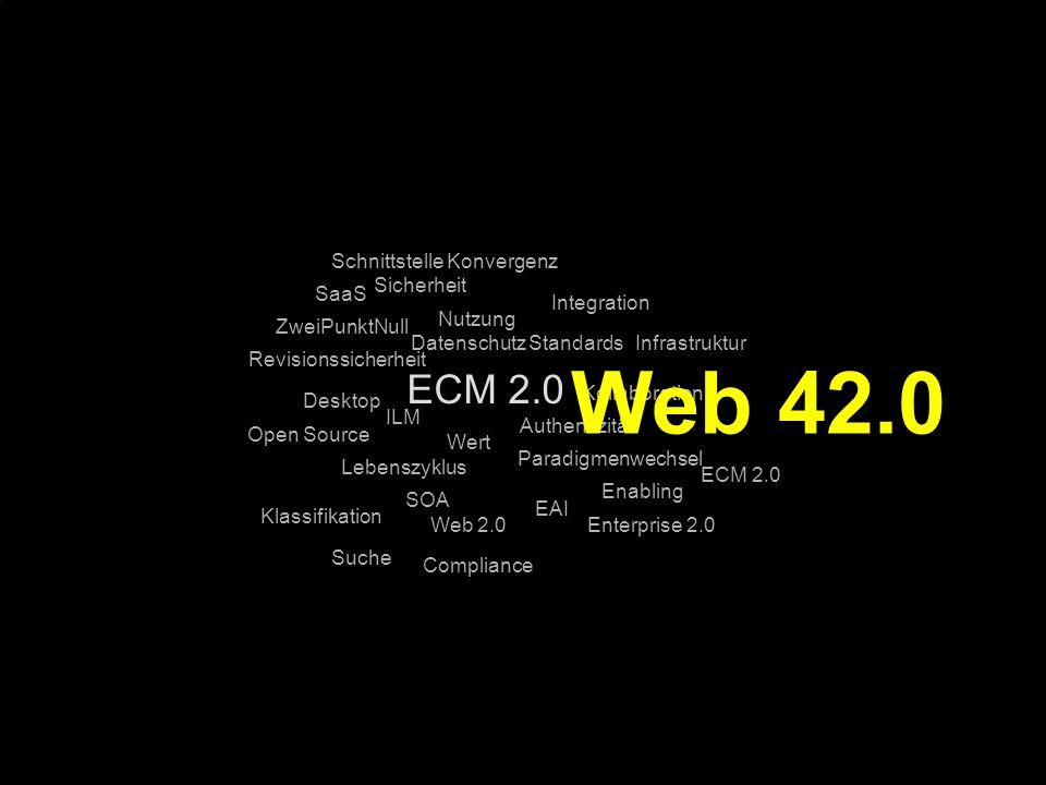 Web 42.0 ECM 2.0 Schnittstelle Konvergenz Sicherheit SaaS Integration
