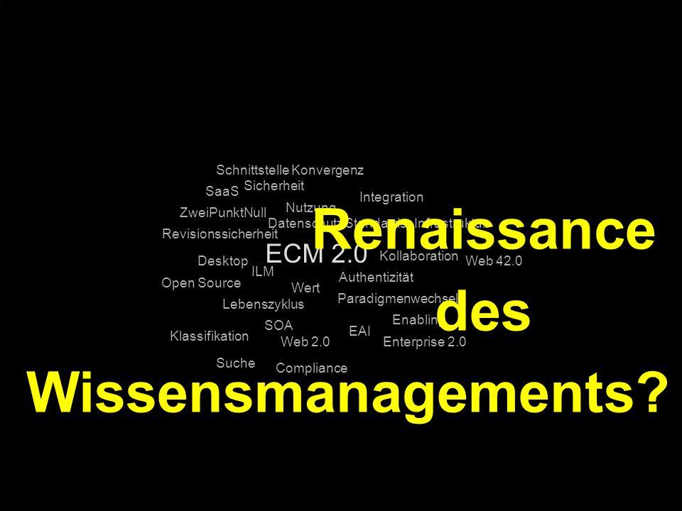 Renaissance des Wissensmanagements
