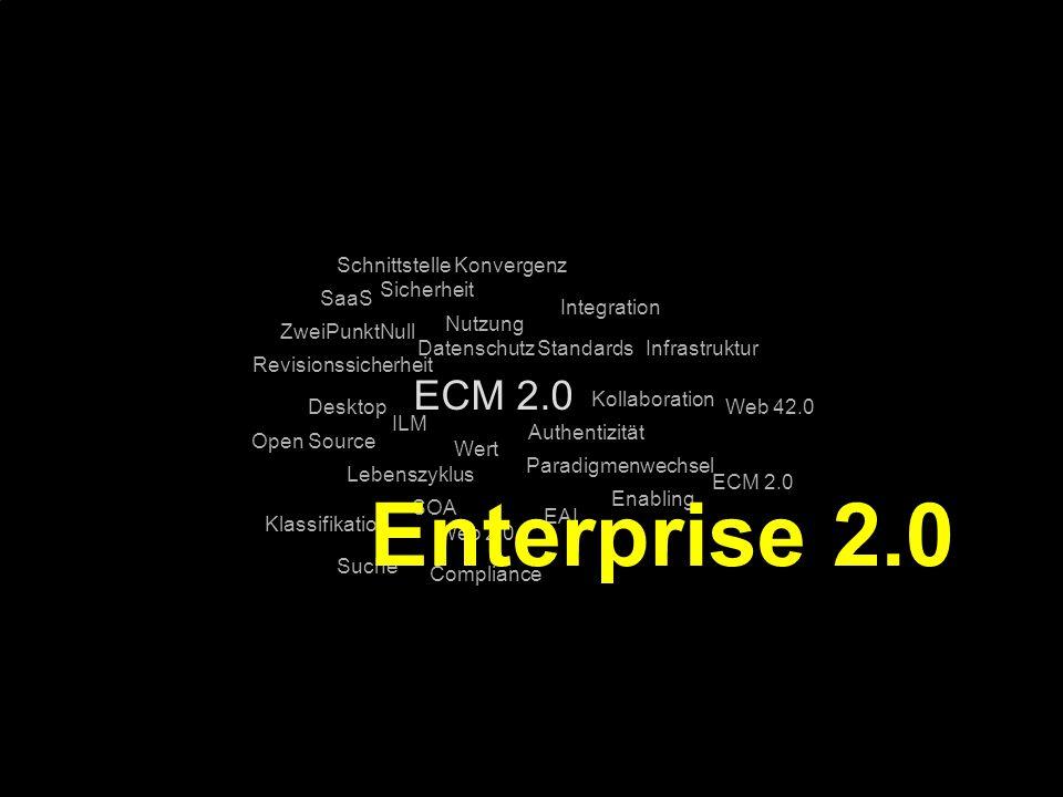 Enterprise 2.0 ECM 2.0 Schnittstelle Konvergenz Sicherheit SaaS
