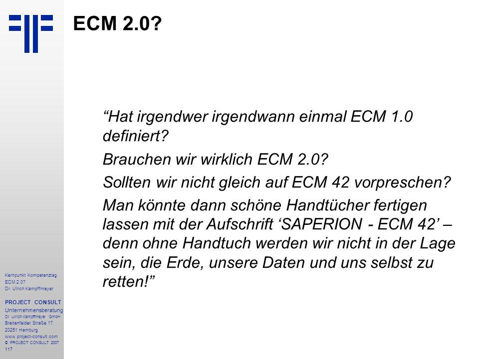ECM 2.0 Hat irgendwer irgendwann einmal ECM 1.0 definiert