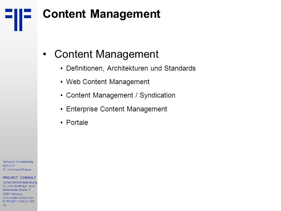 Content Management Content Management