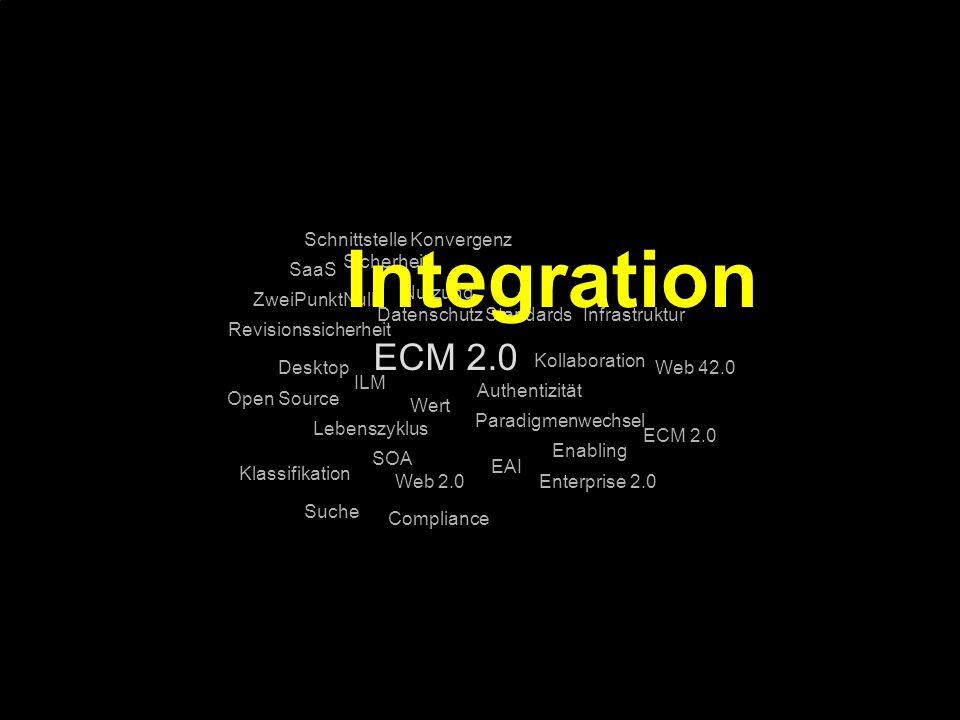 Integration ECM 2.0 Schnittstelle Konvergenz Sicherheit SaaS Nutzung