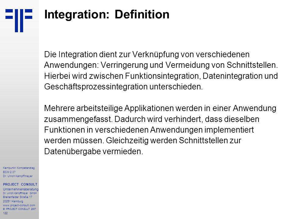Integration: Definition