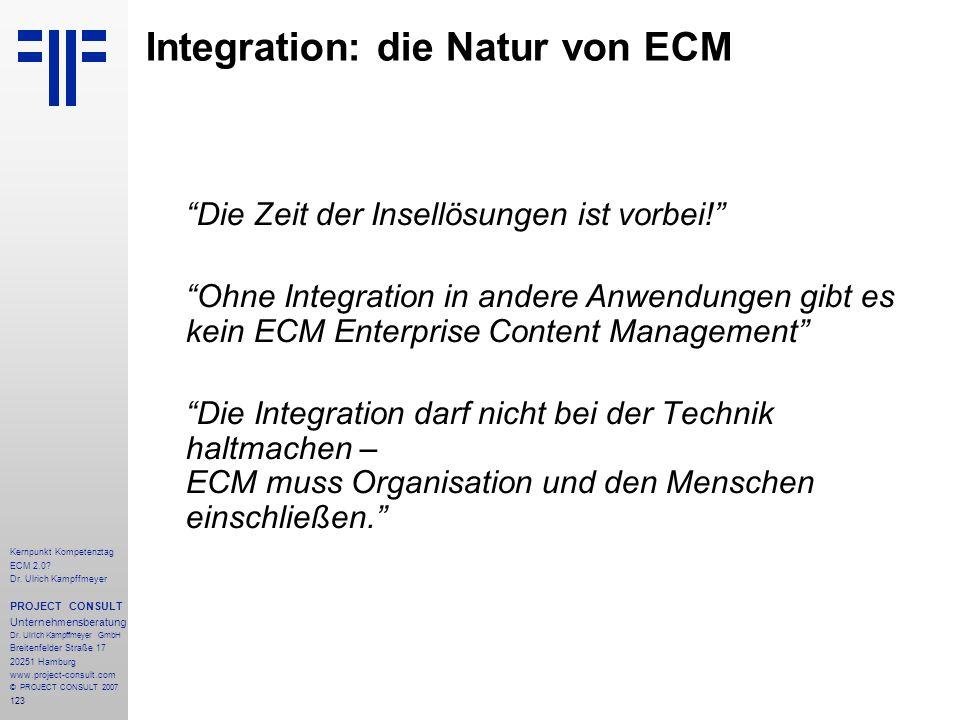 Integration: die Natur von ECM