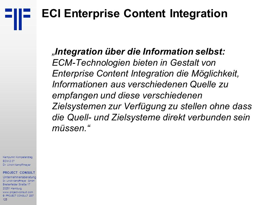 ECI Enterprise Content Integration