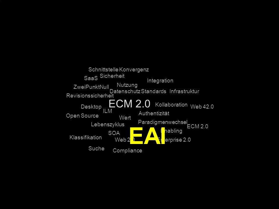 EAI ECM 2.0 Schnittstelle Konvergenz Sicherheit SaaS Integration