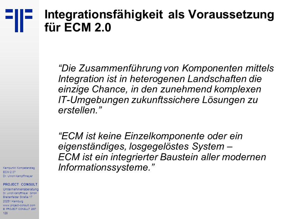 Integrationsfähigkeit als Voraussetzung für ECM 2.0