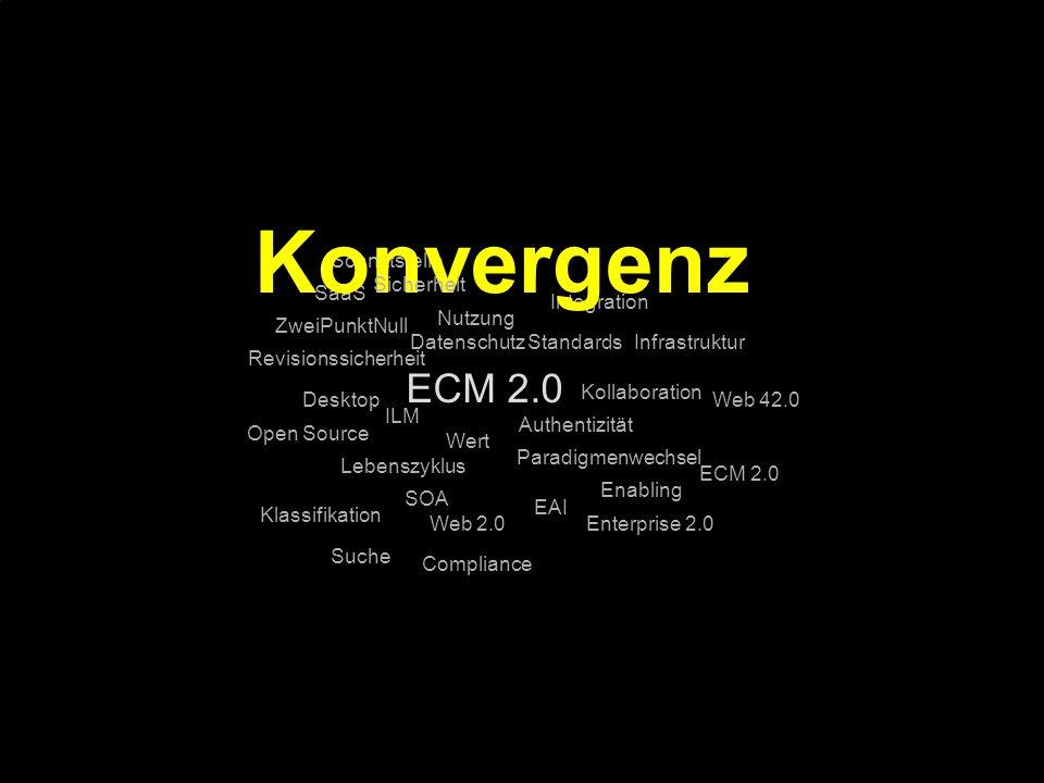 Konvergenz ECM 2.0 Schnittstelle Sicherheit SaaS Integration Nutzung