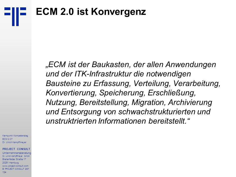 ECM 2.0 ist Konvergenz