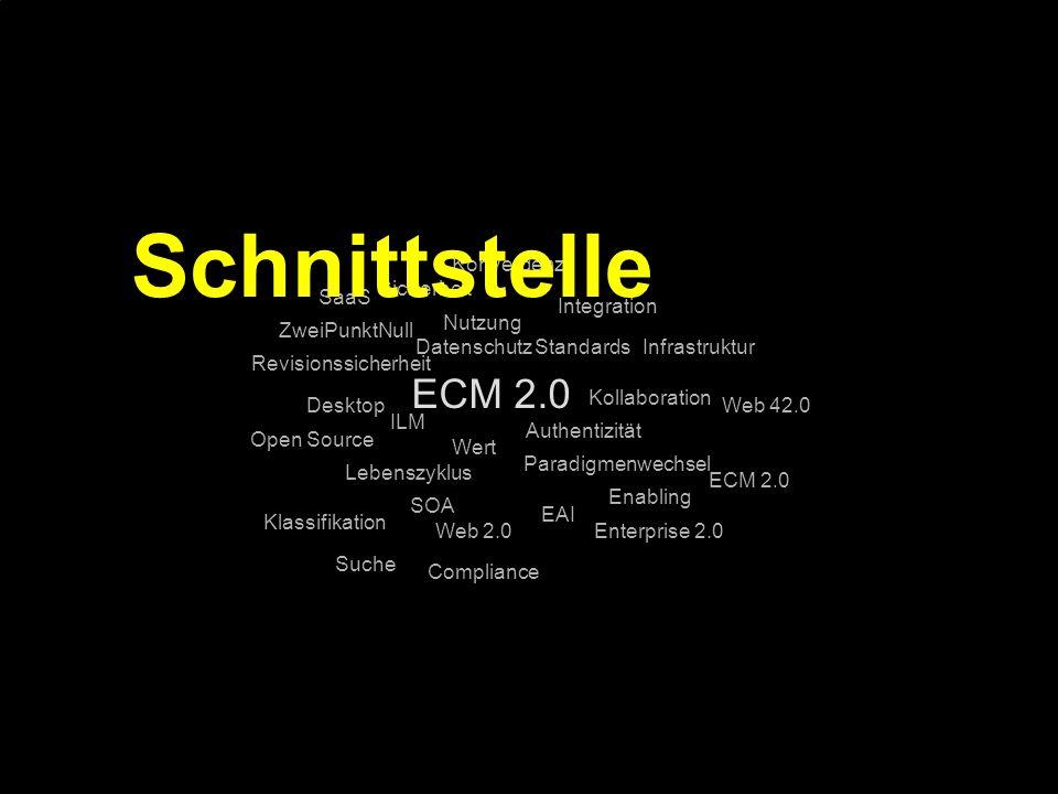 Schnittstelle ECM 2.0 Konvergenz Sicherheit SaaS Integration Nutzung