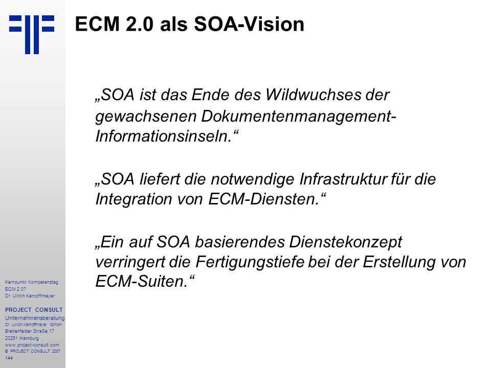 "ECM 2.0 als SOA-Vision ""SOA ist das Ende des Wildwuchses der"