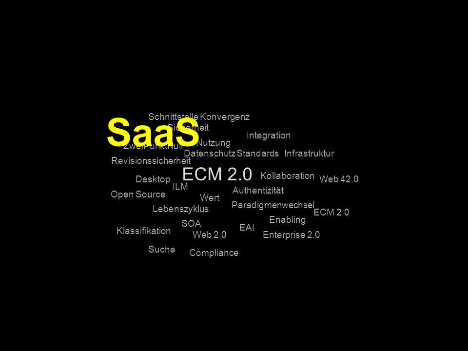 SaaS ECM 2.0 Schnittstelle Konvergenz Sicherheit Integration Nutzung