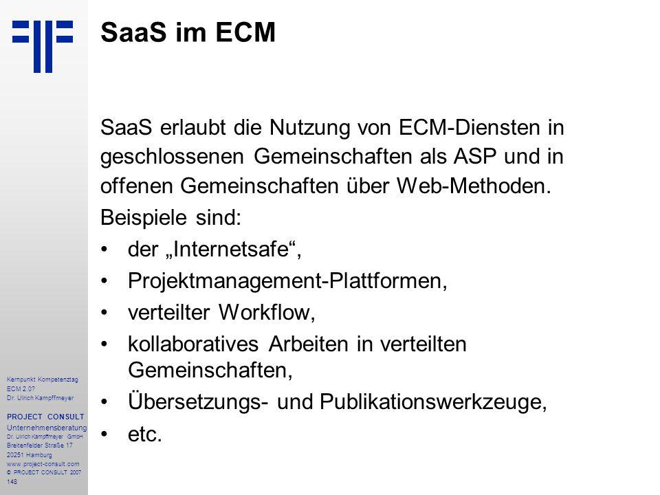 SaaS im ECM SaaS erlaubt die Nutzung von ECM-Diensten in