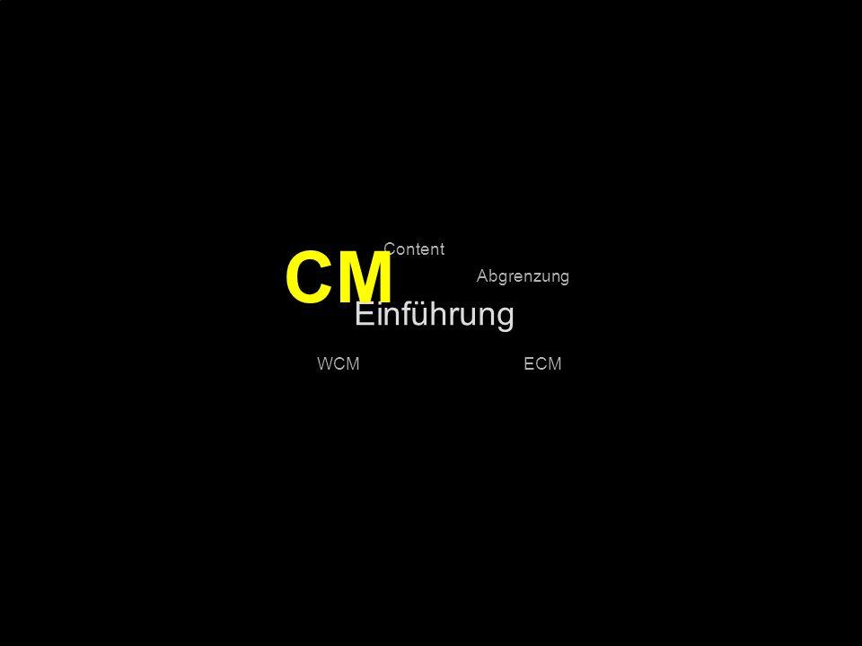 CM Einführung Content Abgrenzung WCM ECM PROJECT CONSULT