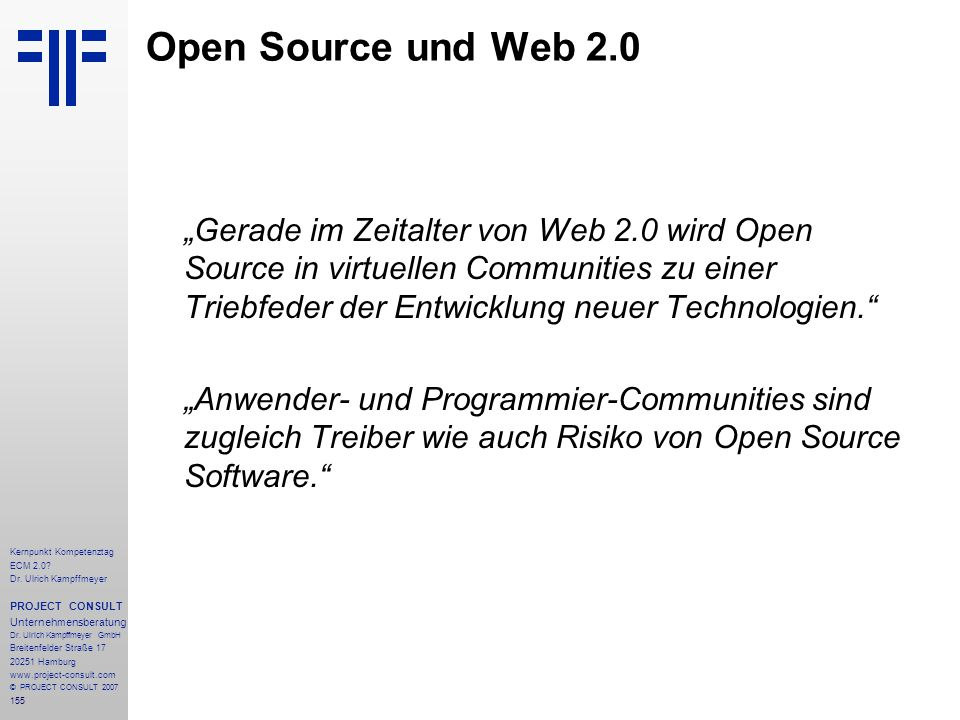 Open Source und Web 2.0