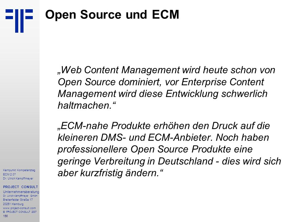 Open Source und ECM