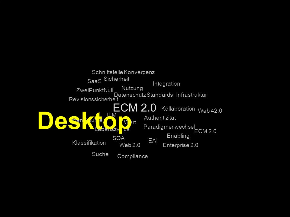 Desktop ECM 2.0 Schnittstelle Konvergenz Sicherheit SaaS Integration