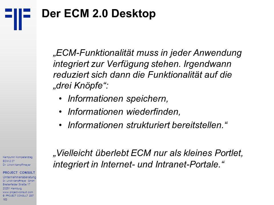 Der ECM 2.0 Desktop