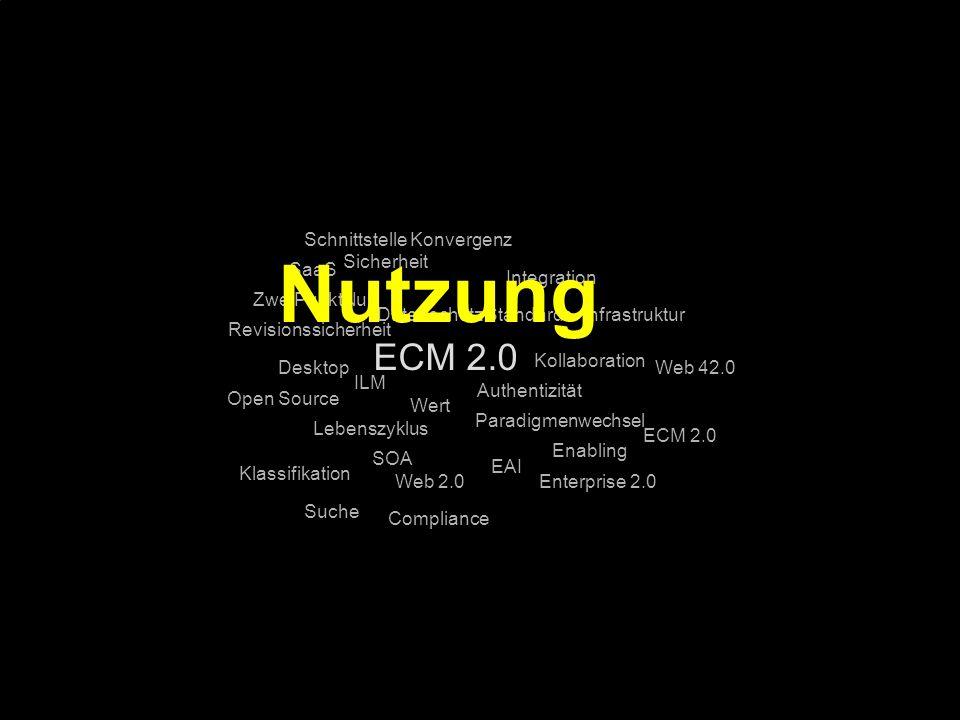Nutzung ECM 2.0 Schnittstelle Konvergenz Sicherheit SaaS Integration