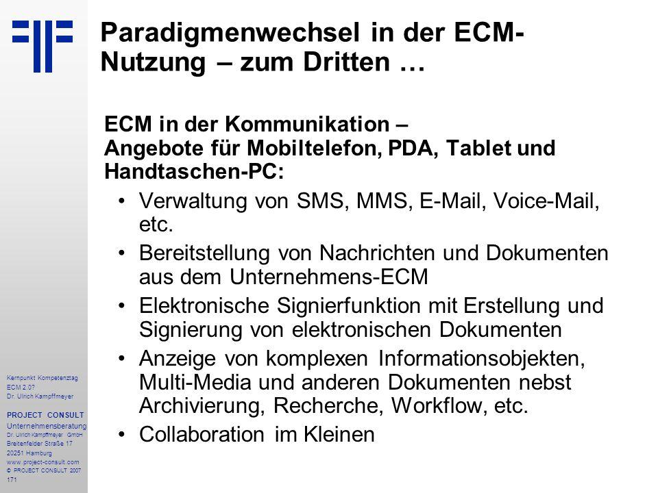 Paradigmenwechsel in der ECM-Nutzung – zum Dritten …