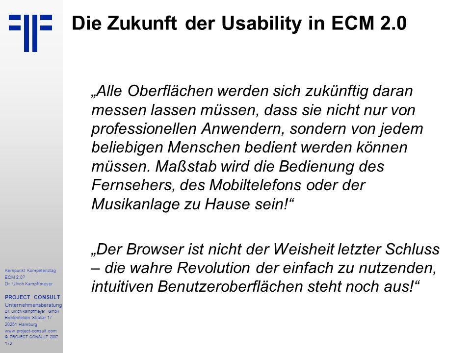 Die Zukunft der Usability in ECM 2.0