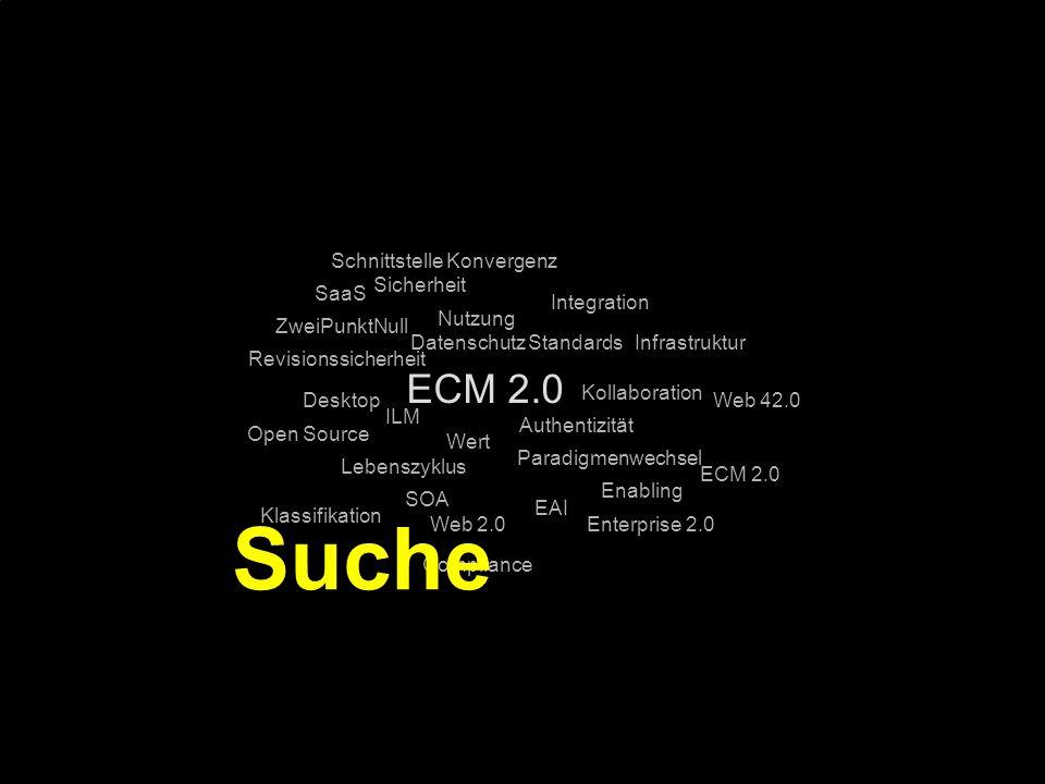Suche ECM 2.0 Schnittstelle Konvergenz Sicherheit SaaS Integration