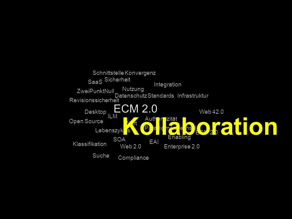 Kollaboration ECM 2.0 Schnittstelle Konvergenz Sicherheit SaaS