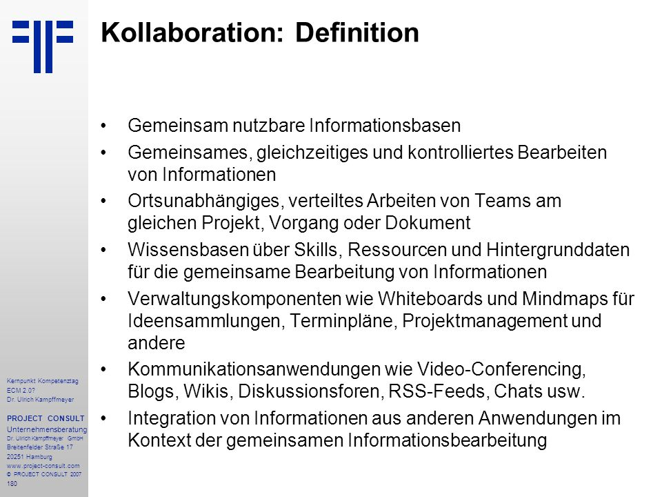 Kollaboration: Definition